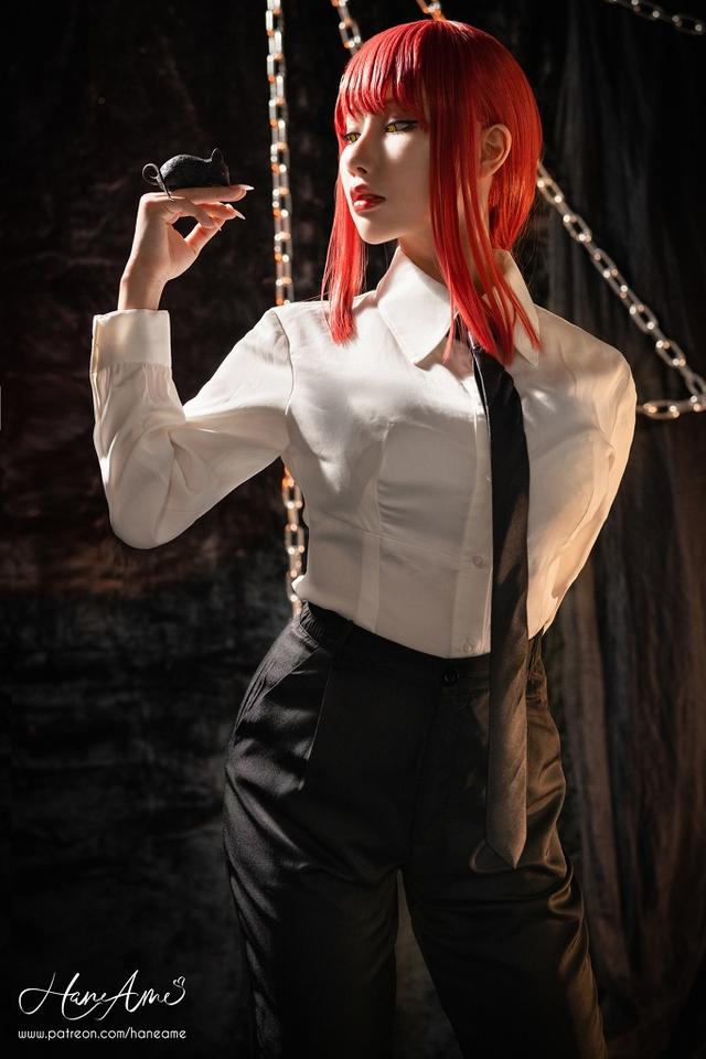 loạt ảnh cosplay Makima bằng xương bằng thịt do nữ coser HaneAme thể hiện Photo-1-1629969290485742002641