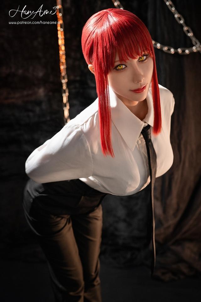 loạt ảnh cosplay Makima bằng xương bằng thịt do nữ coser HaneAme thể hiện Photo-1-16299693030851701806573