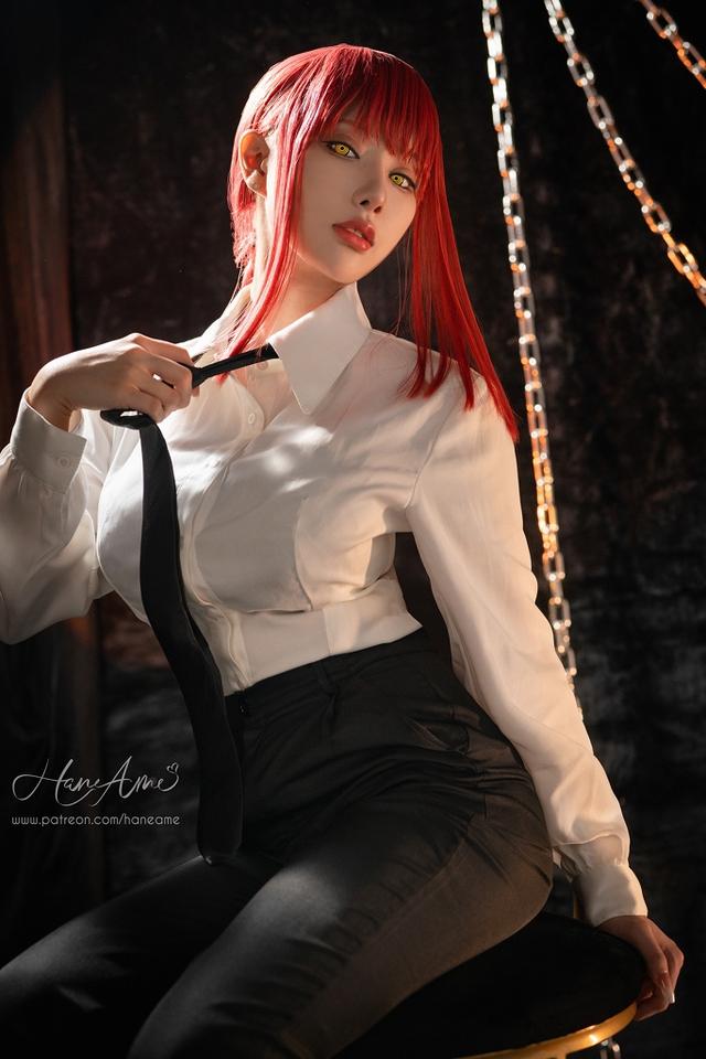 loạt ảnh cosplay Makima bằng xương bằng thịt do nữ coser HaneAme thể hiện Photo-1-1629969309447853652563