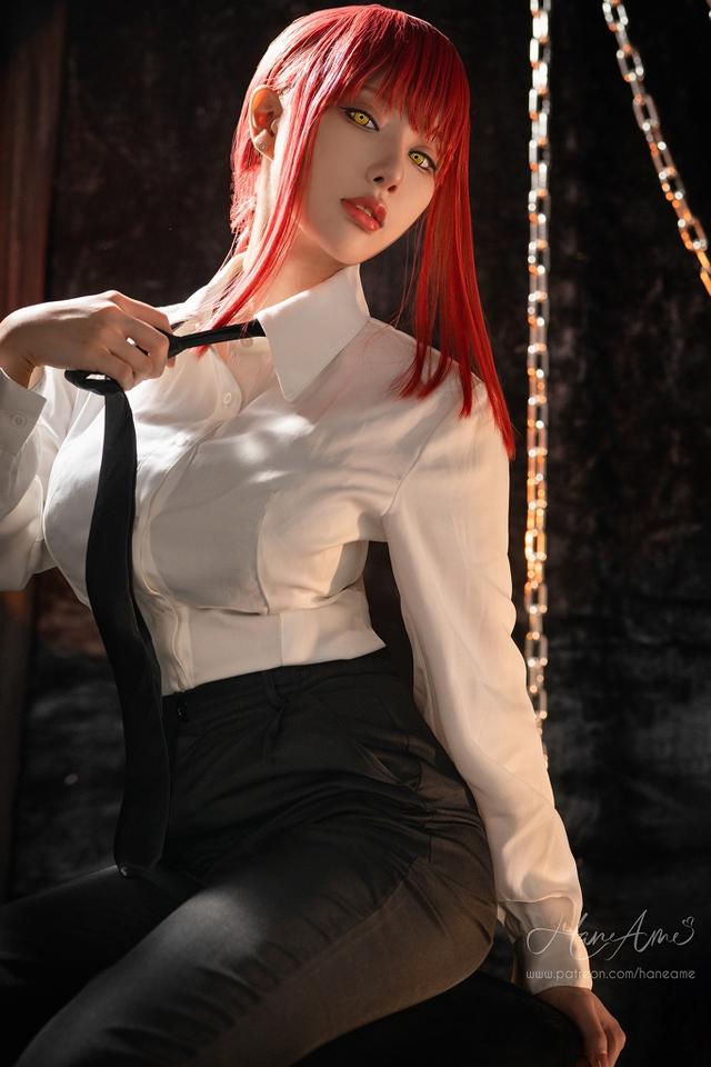 loạt ảnh cosplay Makima bằng xương bằng thịt do nữ coser HaneAme thể hiện Photo-1-16299693148681236538196