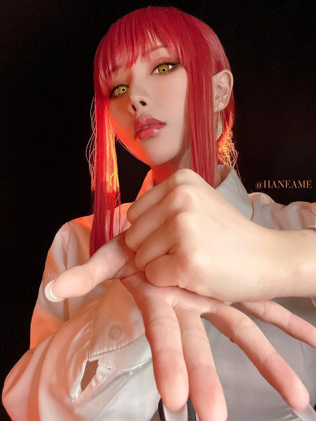 loạt ảnh cosplay Makima bằng xương bằng thịt do nữ coser HaneAme thể hiện Photo-1-1629969361456248932713