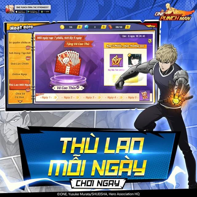 hốt sạch quà dành cho game thủ One Punch Man: The Strongest -1630389978037138373126