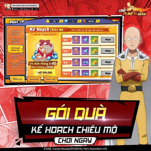 hốt sạch quà dành cho game thủ One Punch Man: The Strongest -16303899785961565727866