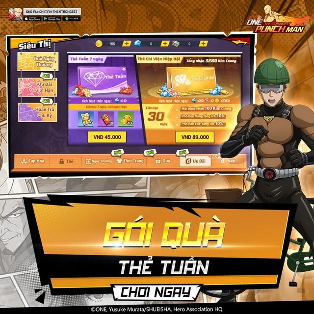 hốt sạch quà dành cho game thủ One Punch Man: The Strongest -1630389979059878569481