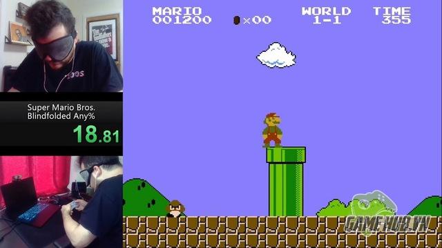 Bá đạo tới mức bịt mắt vẫn phá đảo game Mario, còn lập cả kỷ lục Guiness thế giới, nam game thủ khiến CĐM ngả mũ bái phục - Ảnh 1.