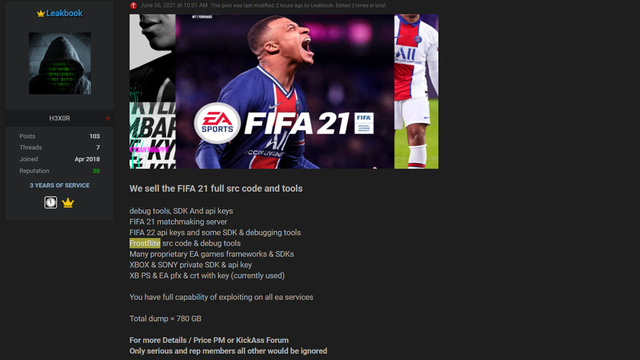 Asking for ransom EA did not pay, no one wanted to buy it for sale, the hacker was bitter to distribute the FIFA 21 source code online for free - Photo 3.