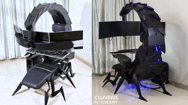 Game thủ Việt tự chế tạo dàn PC Gaming hình bò cạp cực ngầu - Ảnh 2.