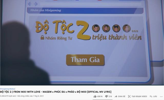 """MV của Độ Mixi đang rất hot trên YouTube, fan Lửa Chùa gây sốc, vào bình luận 1 câu cực """"chí mạng""""? - Ảnh 1."""
