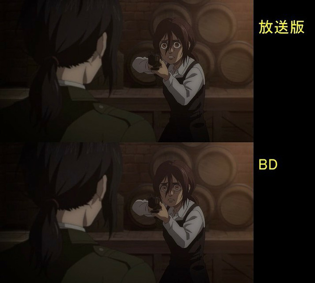 Soi tiếp sự khác biệt giữa bản anime và Blu-ray Attack on Titan, fan khen xem sướng hơn hẳn - Ảnh 15.