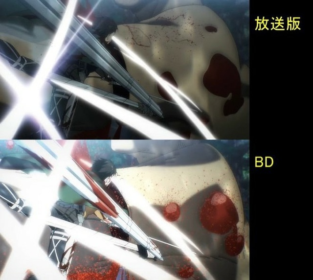 Soi tiếp sự khác biệt giữa bản anime và Blu-ray Attack on Titan, fan khen xem sướng hơn hẳn - Ảnh 33.