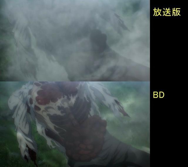 Soi tiếp sự khác biệt giữa bản anime và Blu-ray Attack on Titan, fan khen xem sướng hơn hẳn - Ảnh 35.