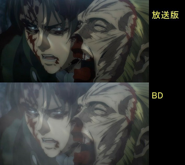 Soi tiếp sự khác biệt giữa bản anime và Blu-ray Attack on Titan, fan khen xem sướng hơn hẳn - Ảnh 37.
