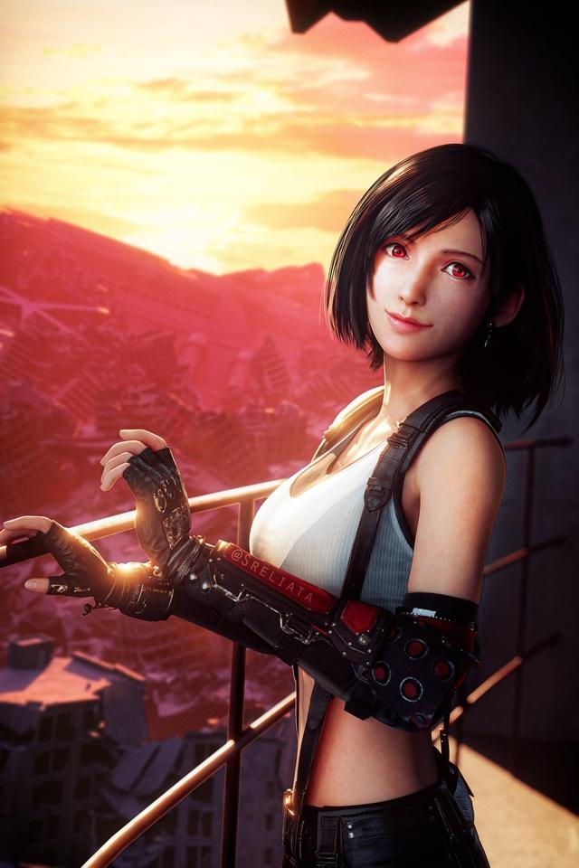 Sống lại trào lưu chế Tifa tóc ngắn, các fan của Final Fantasy phát sốt khi thấy nữ thần với nhan sắc cực phẩm - Ảnh 12.