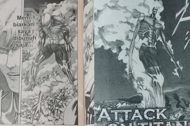 Cười té ghế trước loạt ảnh Titan mặc quần áo khi Attack on Titan xuất bản ở Malaysia - Ảnh 4.