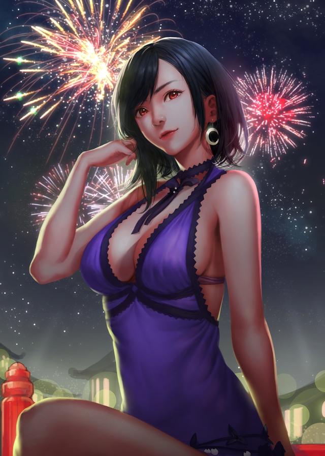 Sống lại trào lưu chế Tifa tóc ngắn, các fan của Final Fantasy phát sốt khi thấy nữ thần với nhan sắc cực phẩm - Ảnh 5.