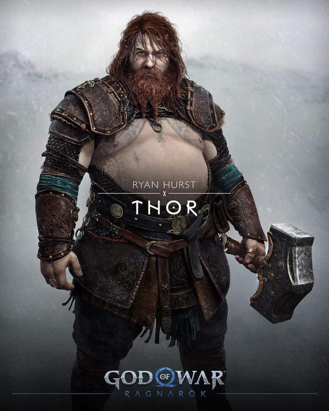 Thor bụng phệ xuất hiện trong God of War Ragnarok - Ảnh 1.