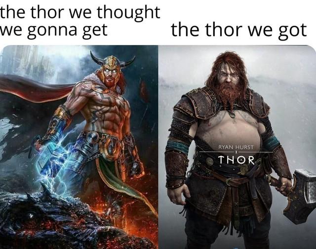 Chết cười với loạt ảnh chế tạo hình mới của Thor trong God of War: Ragnarok, cái bụng bia là điểm nhấn - Ảnh 6.