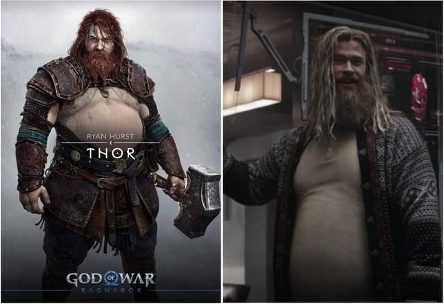 Chết cười với loạt ảnh chế tạo hình mới của Thor trong God of War: Ragnarok, cái bụng bia là điểm nhấn - Ảnh 7.