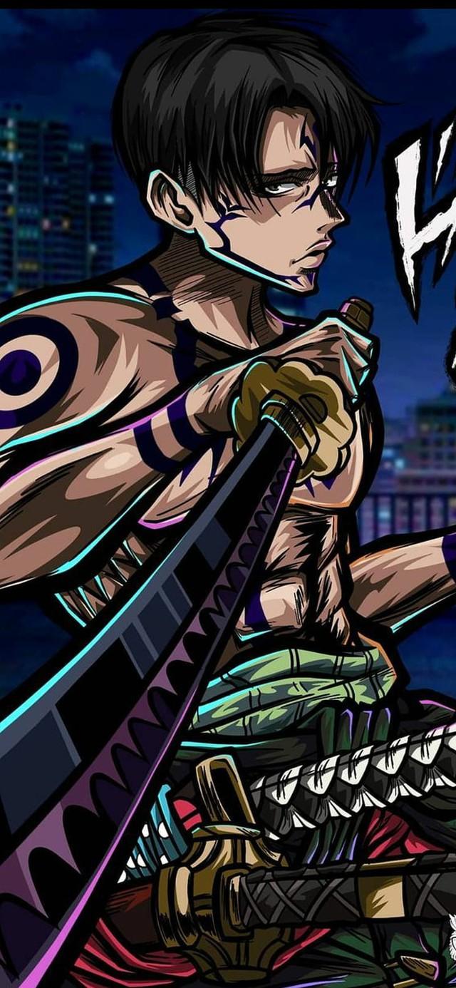 Khi dàn nhân vật Attack on Titan bị Vua nguyền hồn Sukuna trong Jujutsu Kaisen nhập, tạo hình của Levi ngầu bá cháy - Ảnh 6.