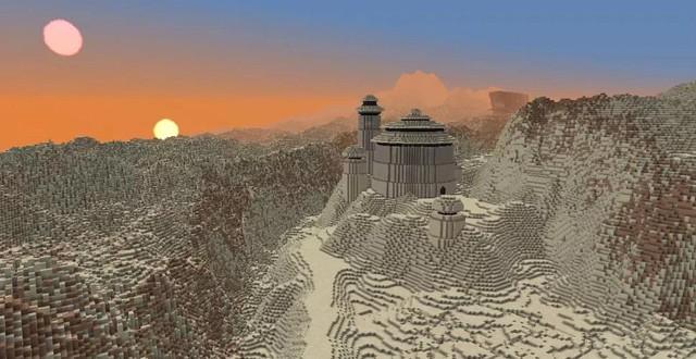 Nhóm game thủ công bố dự án tái tạo lại cả dải ngân hà Star Wars vào Minecraft - Ảnh 4.