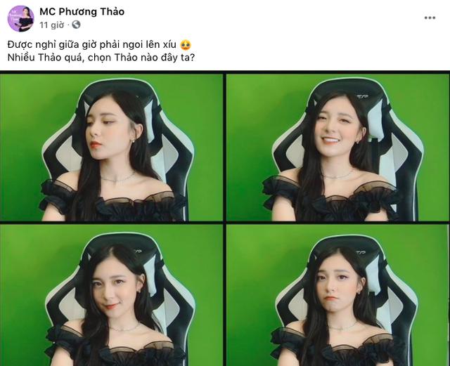 """Tranh thủ giữa buổi dẫn ĐTDV để đăng hình """"thả thính, MC Phương Thảo bị fan """"troll tới bến - Ảnh 1."""
