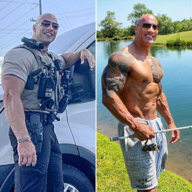"""Anh cảnh sát có ngoại hình giống hệt The Rock khiến """"bản chính chủ"""" cũng phải lên tiếng khen ngợi và mời đi nhậu - Ảnh 1."""
