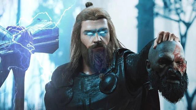 So sánh thần sấm Thor trong phim Marvel và God of War Ragnarok - Ảnh 4.