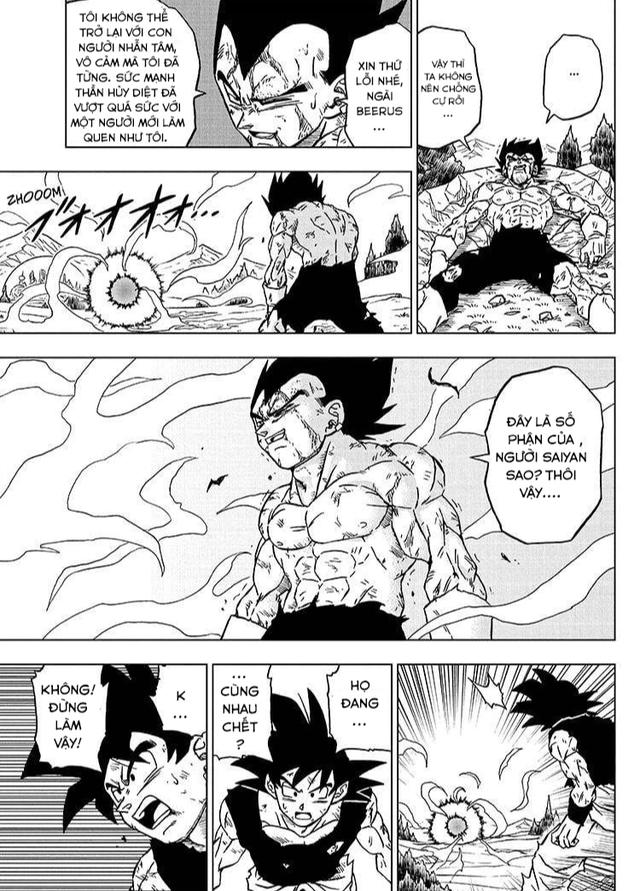 Top 5 hình ảnh ấn tượng trong Dragon Ball Super chap 76: Niềm kiêu hãnh của hoàng tử Saiyan, Vegeta muốn đồng quy vu tận với kẻ thù - Ảnh 4.