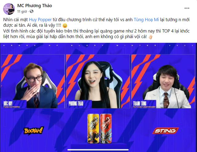 """MC Phương Thảo nhận định về top 4 của ĐTDV mùa Đông 2021, trùng hợp bất ngờ với lời """"tiên tri"""" của một BLV - Ảnh 3."""