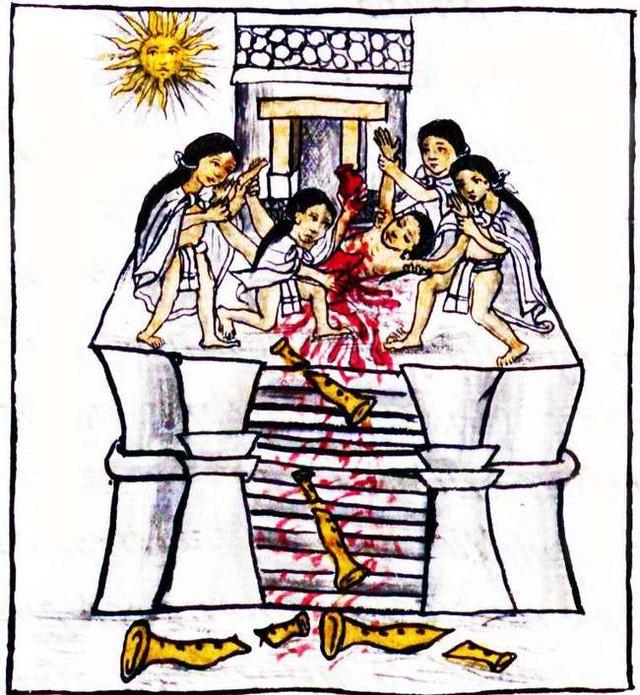 Những câu chuyện bạo lực và đẫm máu trong thần thoại Aztec cổ -16306486573051733841012