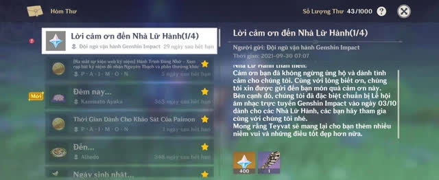 game thủ Genshin Impact toàn cầu đã đồng loạt đứng lên chỉ trích sự kiện kỷ niệm 1 năm ra mắt game tệ hại của miHoYo Photo-1-16329704825491714453475-16329705329761611746998