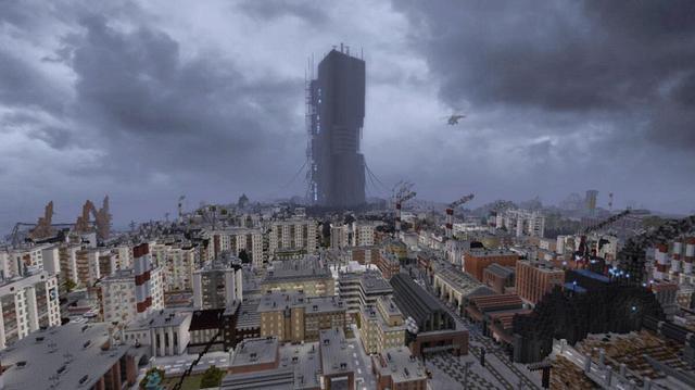 Nhóm modder dành nửa thập kỷ để tái tạo lại Half-Life 2 trong Minecraft - Ảnh 1.