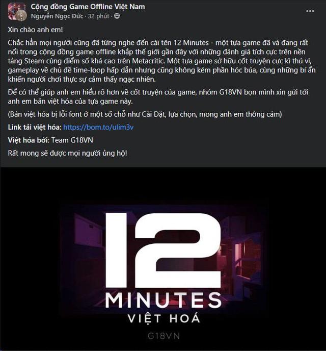 Tựa game giải đố hack não nhất 2021 - 12 Minutes có bản Việt hóa - Ảnh 4.