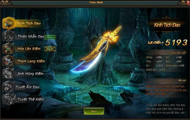 Kinh Tịch Đao, loại vũ khí người chơi sẽ nhận được sau 02 ngày điểm danh