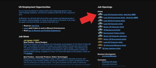 Blizzard tuyển nhân viên cho dự án game mới