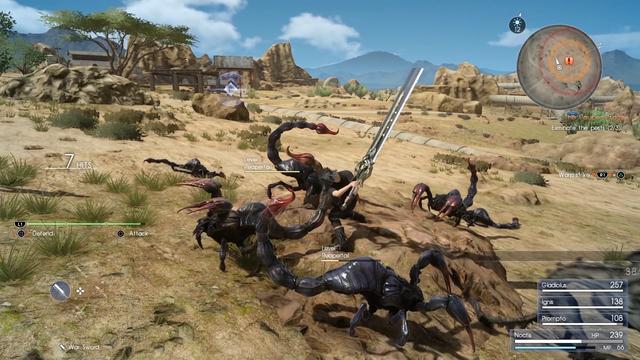Cơ chế chiến đấu trong Final Fantasy XV mang đậm chất hành động, nhưng lại quá dễ