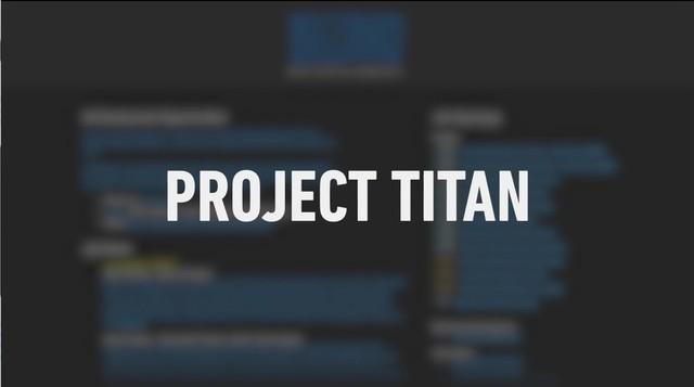 Project Titan chính thức khởi động