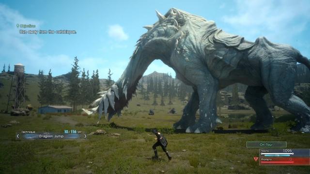 Thế giới mở trong Final Fantasy XV (đánh con quái này lúc đầu cũng khó phết!!!)
