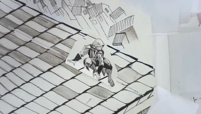 Trượt trên các mái nhà một cách điệu nghệ.