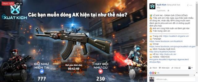 Kêt quả vote hiện tại cho thấy phần đông game thủ vẫn ủng hộ quyết định Nerf AK-47 của NPH