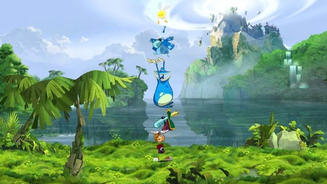 Đồ họa tươi sáng cực kì bắt mắt của Rayman Origins.