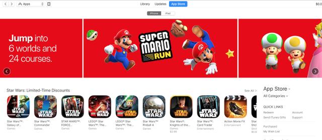 Một màu đỏ của Mario đang tràn ngập các BXH App Store