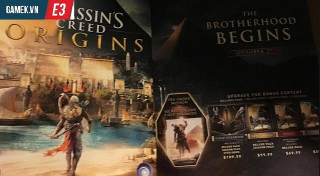 Assassin's Creed: Origins rò rỉ ngày phát hành, game thủ sẽ được chiến game ngay trong năm 2017 này