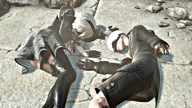 Để có thể lấy được Ending E trong Nier: Automata (giúp cả 3 nhân vật 2B, 9S và A2 đều sống), người chơi sẽ cần phải Co-op với các game thủ khác