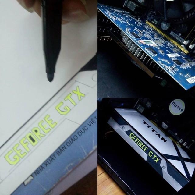 Chết cười anh chàng người Việt không tiền mua VGA xịn thì... vẽ hẳn ra một cái