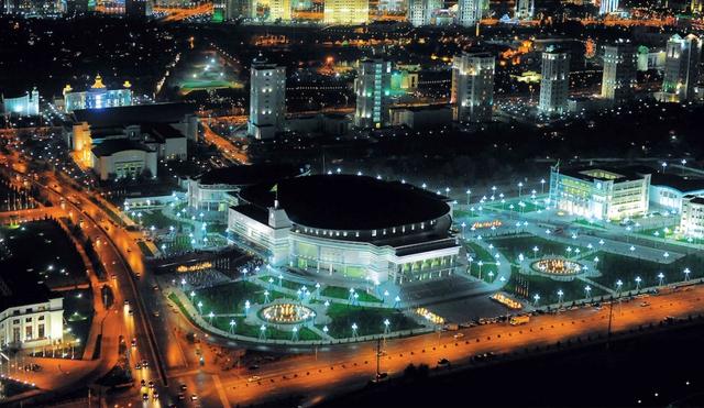 Sân vận động Ashgabat, Turkmenistan, nơi diễn ra Đại hội Thể thao trong nhà Châu Á 2017.