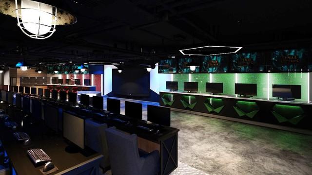 Phòng game với cấu hình cao, sử dụng các monitor 144Hz phẳng mới nhất từ Samsung