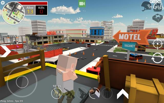 Tải Unknown Royal Battle - Phiên bản Minecraft hóa siêu vui nhộn của PUBG trên Mobile