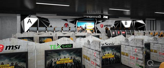 100 máy thi đấu sẽ được ngăn cách, đảm bảo sự tập trung cao độ cho các gamer.