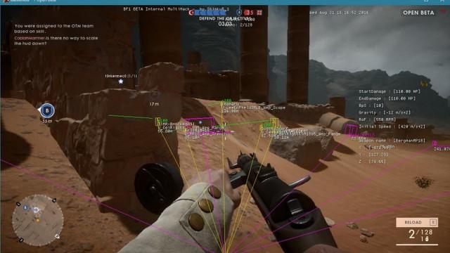 Một phần mềm hack trong Battlefield 1.